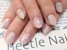 Nail Art - Beetle Nail :  ハートホロ   #Beetlenail #Beetle近江八幡 #ビートルネイル #ビートル近江八幡