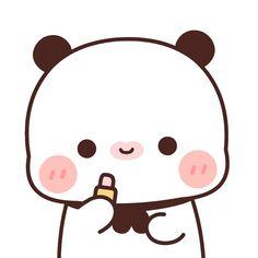 Panda Gif, Cute Kawaii Backgrounds, Cute Bear Drawings, Cute Cat Illustration, Cute Panda Wallpaper, Cute Love Stories, Panda Wallpapers, Cute Cartoon Pictures, Cute Couple Art
