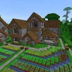 a good home wow I like it a lot Art Minecraft, Minecraft Structures, Minecraft Castle, Minecraft Medieval, Minecraft Plans, Minecraft Survival, Minecraft Decorations, Amazing Minecraft, Cool Minecraft Houses
