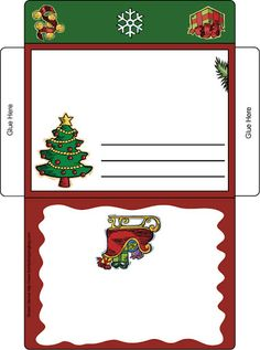 New Album - Pililucha - Picasa Web Albums Christmas Envelopes, Christmas Stationery, Christmas Gift Box, Christmas Art, Christmas Decorations, Paper Box Template, Printable Recipe Cards, Cardboard Crafts, Holiday Activities