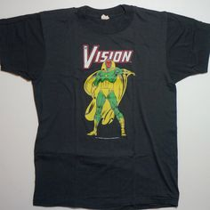 A personal favorite from my Etsy shop https://www.etsy.com/listing/468502206/the-vision-vintage-marvel-comics-tee