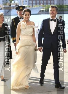 Crown Prince Frederik & Crown Princess Mary attend the gala dinner of the Royal Yacht Club.
