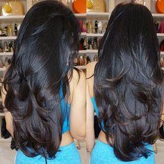 The perfect hair Long Black Hair, Long Layered Hair, Very Long Hair, Long Hair Cuts, Dark Hair, Layered Haircuts For Long Hair, Beautiful Long Hair, Gorgeous Hair, Leyla Milani Hair