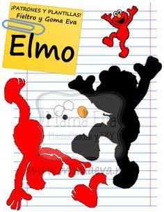 Descarga gratis nuestras plantillas para goma eva y fieltro de tus personajes de dibujos animados clásicos y de los 80's favoritos: Coco, Epi, Blas, Elmo...