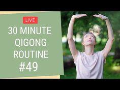 🔴 LIVE 30 Minute Qigong Routine - Qigong for Beginners Qigong Meditation, Chakra Meditation, Meditation Music, Pilates, Tai Chi Video, Tai Chi Exercise, Tai Chi Qigong, Senior Fitness, Acupressure