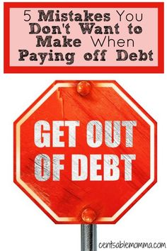 You've decided that you finally want to pay off your debt.  Great!  But be careful not to fall into these 5 mistakes when paying off debt.