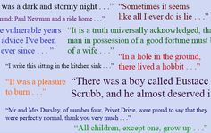 Image result for famous first lines collage