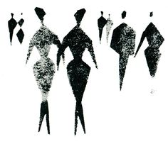 Crowd (2 of 5), from Graphic Design in Architectural Renderings, 1960. Drawings by Gerd Zimmerschied.