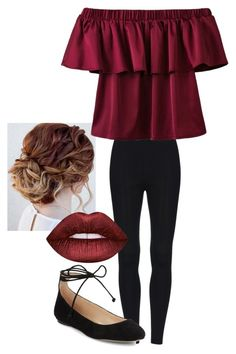 """""""day out with family"""" by imogengh ❤ liked on Polyvore featuring Karl Lagerfeld and Lime Crime"""