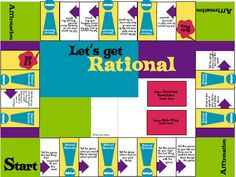 """Let's Get Rational Board Game- World-renowned psychologist Albert Ellis, the originator of REBT, has endorsed Let's Get Rational. Dr. Ellis described Let's Get Rational as, """"A simple and enjoyable game that helps teach people some of the main principles of Rational Emotive Behavior Therapy. This is a game counselors have been waiting for and is truly the only game in existence that teaches emotional education to those who choose to play."""""""