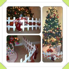 Faux Present Fence for Toddlers and Christmas Trees. Better than ...