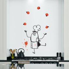 Add Charm And Humor To Your Wall With This Vinyl Wall Sticker Featuring The  Famous Chef Wally On Your Wall. Part 88