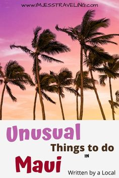 Maui is a true paradise and has something to offer everyone. Check out a few less than modern things to do in Maui while you're explore this exotic Hawaiian Island. Written by a local. #Maui #USA #Hawaii #travel #beachvacation #imjesstraveling