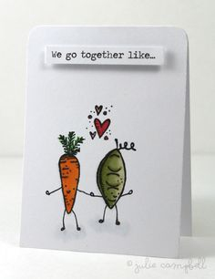 Cute Valentine's Day card using Foodie Doodles by Julie Campbell