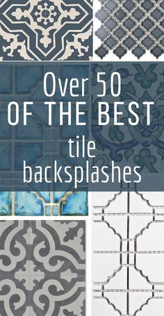 Over 50 of the best tile backsplashes, with sources! Need some inspiration on which backsplash is the best one for your kitchen bathroom, or laundry room? Take a look at these and save this as a valuable resource for home decor and interior design enthus Diy Kitchen Cabinets, Kitchen Tiles, Kitchen Decor, Country Kitchen Backsplash, Kitchen Backslash, Cupboards, Interior Design Kitchen, Interior Decorating, Interior Office