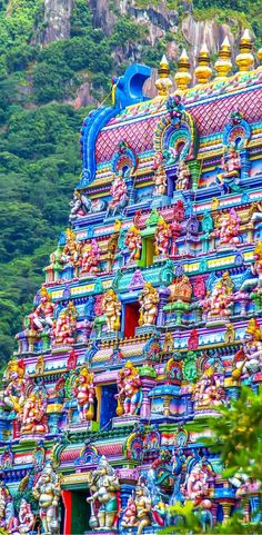 Hindu Temple in the Seychelles.  Click through to read a complete travel guide to visiting this beautiful country!