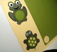 Tarheel Stamper: Stampin' Up! Punch Art Scrapbook Page Turtle and Frog
