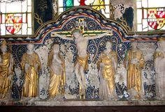 St Leonard's church in Mundford - alabaster reredos by Sir Ninian Comper.
