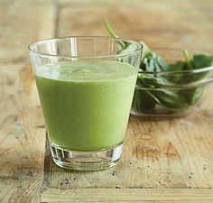 spinach and kale smoothie recipe, for Ideal Protien protocol use splenda or stevia instead of honey!