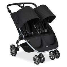 Britax 2017 B-Agile Double Stroller - Red - The Britax 2017 B-Agile/B-Safe 35 Travel System - Black offers the best in protection, comfort, and maneuverability. The lightweight aluminum stroller. Britax B Agile Double, Britax Double Stroller, Double Baby Strollers, Double Stroller Reviews, Best Baby Strollers, Best Double Stroller, Double Stroller For Twins, Twin Strollers, Umbrella Stroller