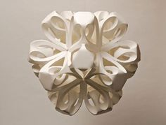 """Richard Sweeney began using paper as a medium for sculpture when he realized that it was a great way to create form through hands-on material exploration. Of his work, Sweeney says """"Discovering the properties of the medium in this direct way helped me better understand the potential of paper in its own right, leading to the creation of sculptural forms."""""""