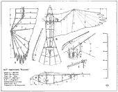 construction plan of the bird model 'buzzard_21';