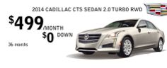 2014 Cadillac CTS Sedan 2.0 Turbo RWD Lease Special