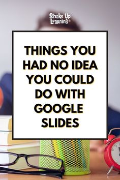 I talk about the wonders of Google Slides CONSTANTLY and frequently refer to it as the Swiss Army Knife of G Suite. It can do all kinds of things! In this post, I will show you 25 Things You Didn't Know Google Slides Could Do. | shakeuplearning.com Free Teaching Resources, Teacher Resources, Google Keep, Google Classroom, Educational Technology, Curriculum, Schoolhouse Rock, Chromebook, Swiss Army