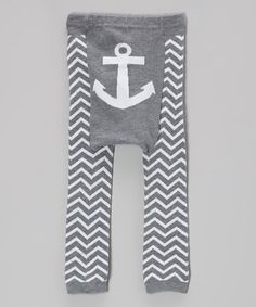 Loving this Gray Zigzag Anchor Leggings - Infant on #zulily! #zulilyfinds