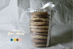 cookie packaging idea (transparent plastic cup w/ lid)