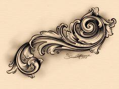 Alf Sam Alfano En (engraving by Nita) Tattoo Sketches, Tattoo Drawings, Body Art Tattoos, Tribal Tattoos, Sleeve Tattoos, Filigrana Tattoo, Filagree Tattoo, Desenho New School, Gravure Metal
