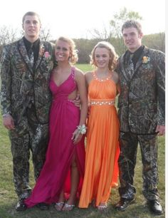 Must teach my girls: He says he wants a camo tux for prom? Say no and run.