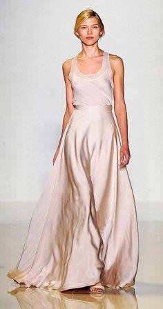 Runway inspiration from Valentin Yudashkin. Who's ready to rock a silk maxi skirt this wedding season?