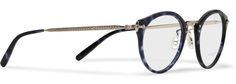 Oliver Peoples round-frame acetate sunglasses.