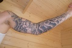 2 sleeve cloud tattoo
