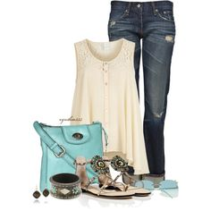 That Fossil Crossbody bag has my name all over it:) Cute summer outfit. Mr. Sunshine...we're waiting:)