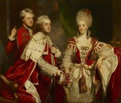 """Family portrait of George Simon Harcourt, 2nd Earl Harcourt (1736-1809), his wife Lady Elizabeth Venables-Vernon, 2nd Countess Harcourt (1746-1826), and his brother Sir William Harcourt"" by Sir Joshua Reynolds (1780)"