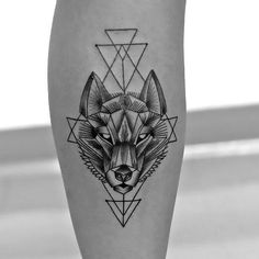 Feed your ink addiction with these wolf tattoo design ideas. Visually stunning wolf tattoos full of meaning in countless different styles. Geometric Wolf Tattoo, Geometric Tattoo Design, Geometric Animal, Tattoo Abstract, Tattoo Tribal, Geometric Sleeve, Tribal Sleeve, Trendy Tattoos, Tattoos For Guys