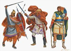 Roman Centurions Western Eastern Empires, - Centuries AD - art by Giuseppe Rava Ancient Rome, Ancient History, Imperial Legion, Roman Centurion, Rome Antique, Roman Legion, Man Of War, Roman Soldiers, Early Middle Ages