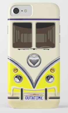 YELLOW minibus lovebug iPhone 4, 5, 6, 7, 8, X Case @pointsalestore @society6Threesecond #iphone #case #cover  #cars #van #bus #minibus #minivan #minicars #retro #vintage #classic #oldcars #classiccars #jeep #offroad #wrangler #bigfoot