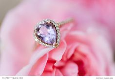 Custom lavendar tear drop engagement ring by Ricus Oosthuizen | Real weddings | Photograph by Yolande Marx