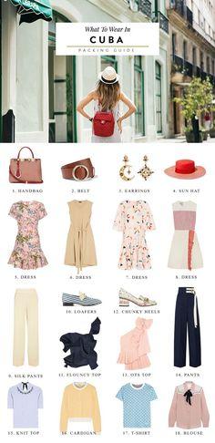 cuba packing list, cuba fashion, cuba travel, cuba havana, havana cuba, havana travel guide, cuba travel guide, packing tips for cuba