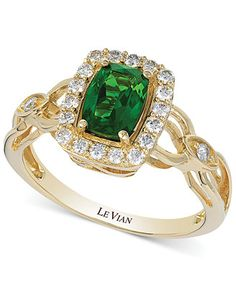 Le Vian Chrome Diopside (3/4 ct. t.w.) and Diamond (1/3 ct. t.w.) Ring
