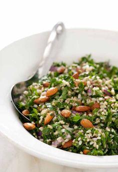 Tabule de arroz integral y almendras  | Cukmi Food Bloggers
