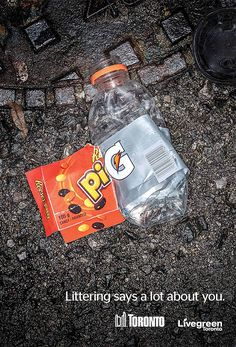 Toronto Anti-Littering Campaigns Use Arranged Trash To Ridicule Litterers | http://www.123inspiration.com/toronto-anti-littering-campaigns-use-arranged-trash-to-ridicule-litterers/