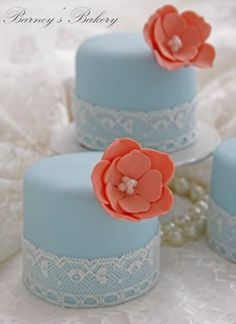 lace mini cakes | Mini cakes voor stage