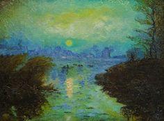 Monet's Sunset At Lavancourt