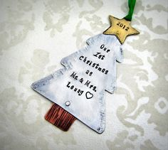 Our First Christmas  Couples Christmas by FiredUpLadiesHammer, $29.00