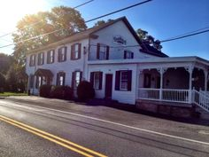 Hanoverville Road House, Pennsylvania: Constructed around 1825, the building that houses the Hanoverville Road House restaurant is believed to be haunted. The ghost of a boy around 8 to 10 years old has been seen here, wearing dark clothing. Strange noises, voices and footsteps also have been heard, and poltergeist pranks have been reported. The boy's identity is unknown.
