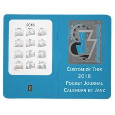 2016 Steel Blue Pocket Journal Calendar by Janz